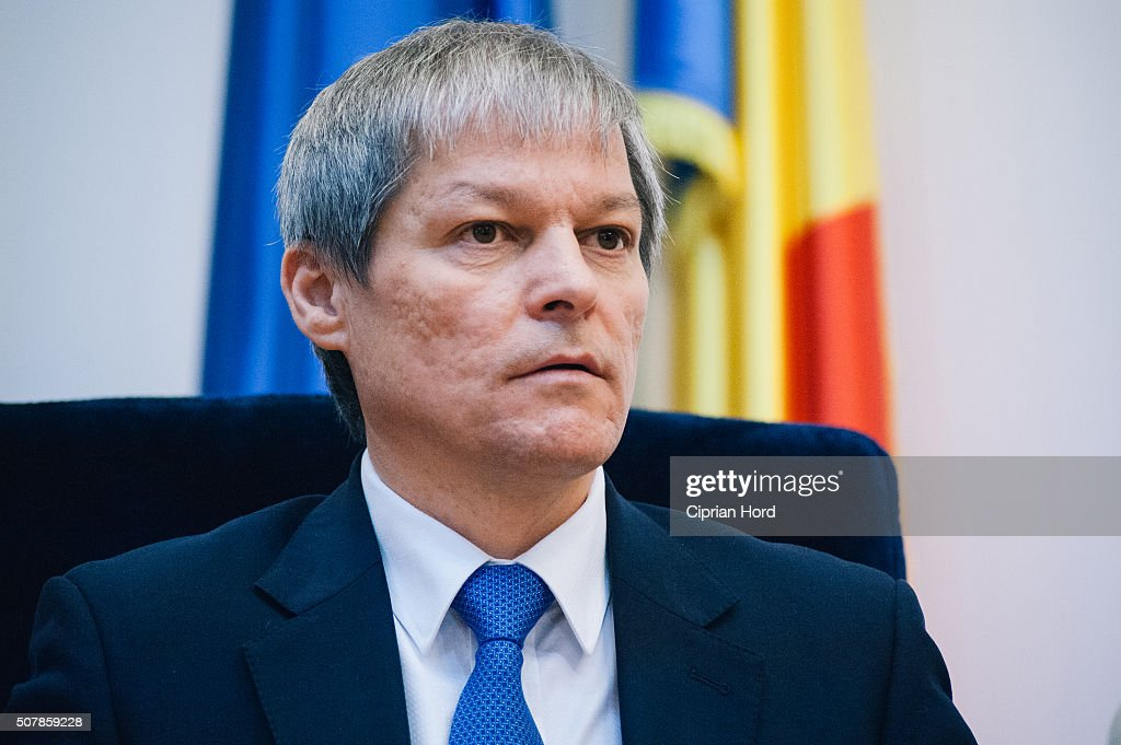 Romanian prime minister Dacian Ciolos listens to the speach of Jose Manuel Durao Barroso, former President of the European Commission, on January 29, 2016 in Timisoara, Romania. Barroso received the title of Doctor Honoris Causa from The West University of Timisoara. During Barroso's mandate as president, Romania joined the European Union, in 2007.