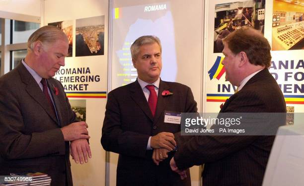 Romanian Prime Minister Dr Adrian Nastase with CBI President Sir Ian Vallance and CBI DirectorGeneral Digby Jones at the International Conference...