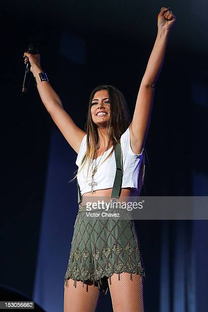 Romanian singer Antonia performs onstage before the Inna concert at Pepsi Center WTC on September 28 2012 in Mexico City Mexico