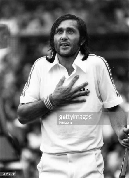 Romanian tennis player Ilie Nastase during a match