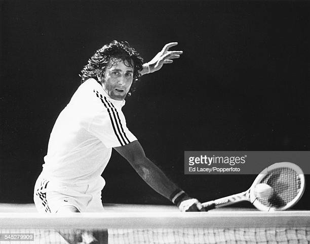 Romanian tennis player Ilie Nastase during his quarter final match against Chris Pasarell at Wimbledon Tennis Championships in London England June...