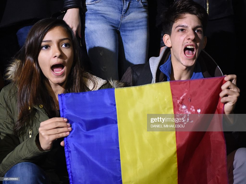 romanian people. romanians protest against the political class and romanian authorities as over 10000 people gather in a p