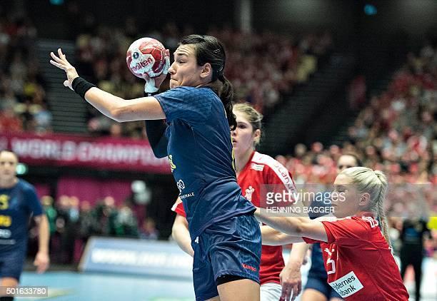 Romania's Christina Neagu in action during the 2015 Womens Handball World Championship quarter final match between Denmark vs Romania on December 16...