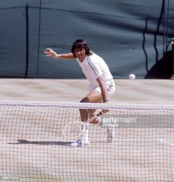 Romania's Ilie Nastase in action on Centre Court at Wimbledon during his Men's Singles semifinal clash against Raul Ramirez of Mexico Nastase won the...