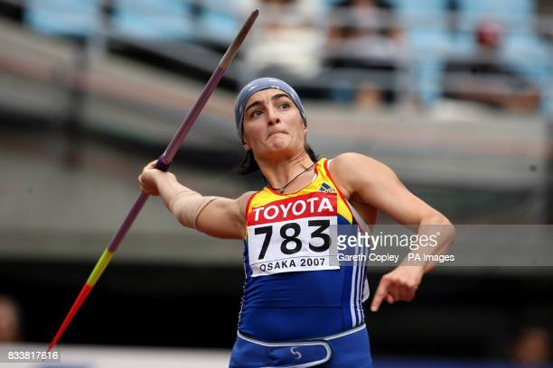 Romania's Monica Stoian competes in the Javelin