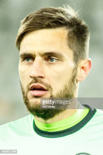 Romania's national soccer goalkeeper Ciprian Tatarusanu pictured after the 2018 FIFA World Cup qualifier soccer game between Romania and Denmark on...