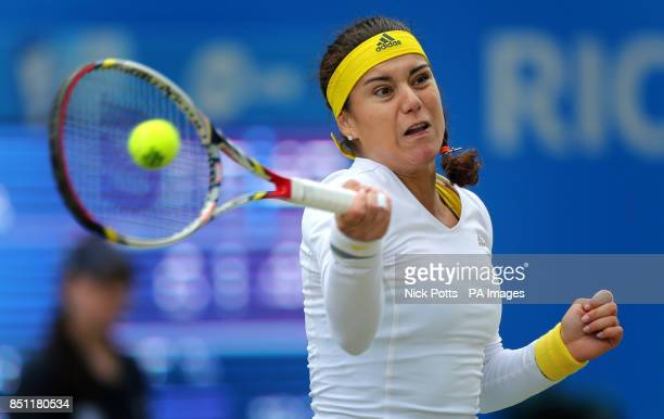 Romania's Sorana Cirstea the third seed during her quarter final match against Croatia's Donna Vekic at the AEGON Classic at Edgbaston Priory...