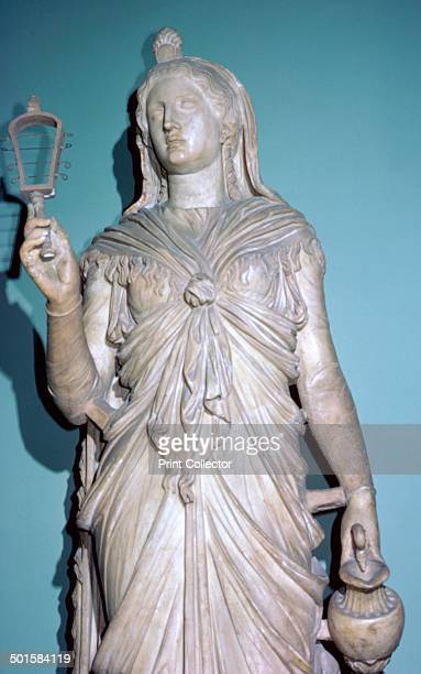 Romanised statue of Isis the Egyptian goddess From the Capitoline Museum's collection in Rome