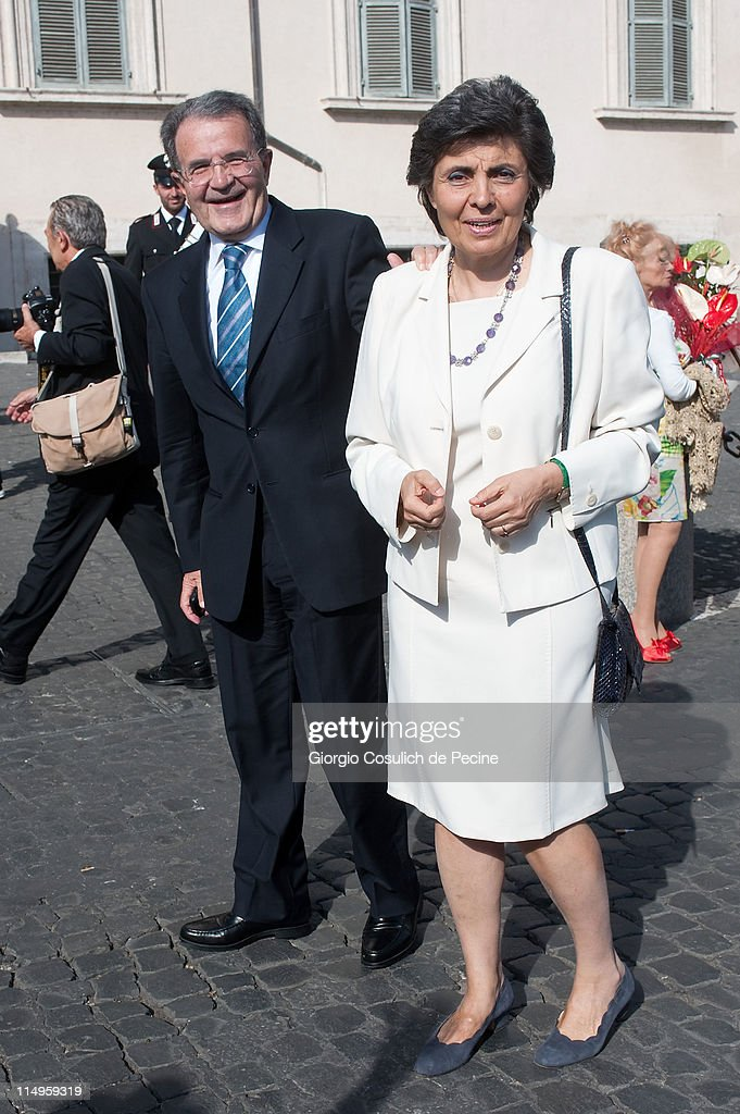 <a gi-track='captionPersonalityLinkClicked' href=/galleries/search?phrase=Romano+Prodi&family=editorial&specificpeople=203301 ng-click='$event.stopPropagation()'>Romano Prodi</a> and wife arrive at the Quirinale Palace to attend the Annual Party hosted by Italy's President Giorgio Napolitano on May 31, 2011 in Rome, Italy.