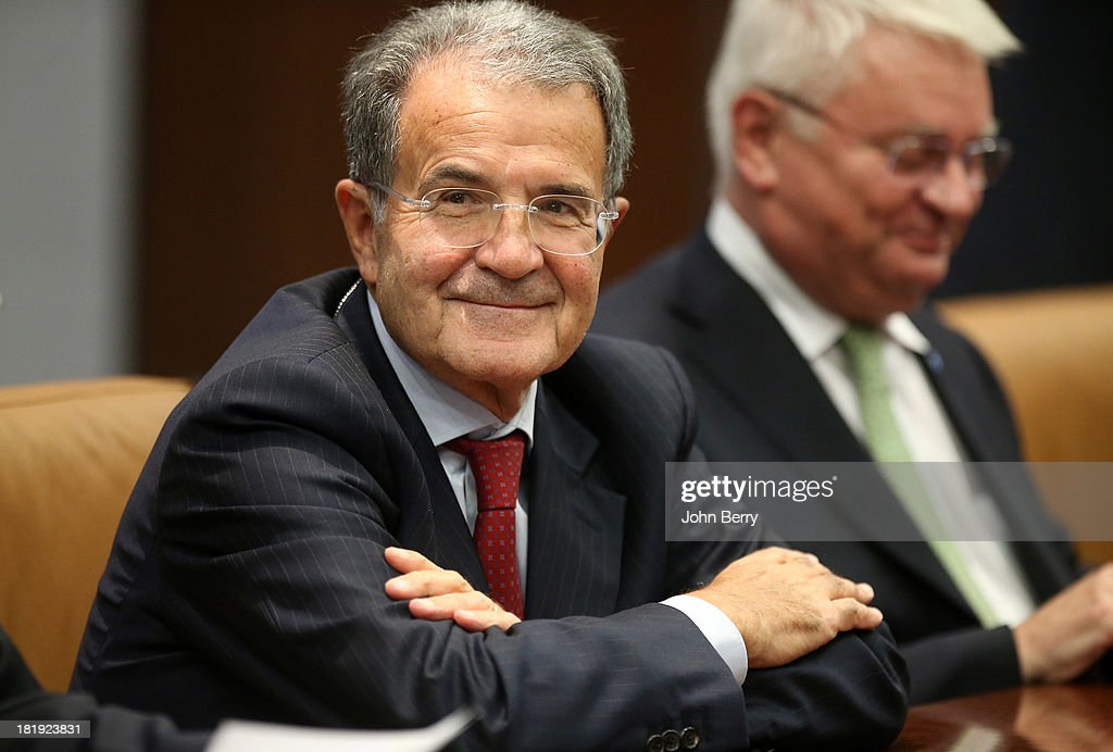<a gi-track='captionPersonalityLinkClicked' href=/galleries/search?phrase=Romano+Prodi&family=editorial&specificpeople=203301 ng-click='$event.stopPropagation()'>Romano Prodi</a>, Special Envoy to Sahel appointed by the U.N. attends the 68th session of the United Nations General Assembly on September 25, 2013 in New York City.