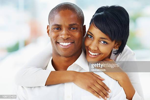 Romantic African American couple spending time together