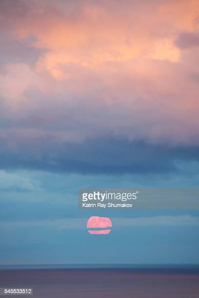 Romantic Blue Moon Rising on Sunset