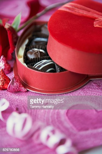 Romantic Box of Chocolates : Stock-Foto