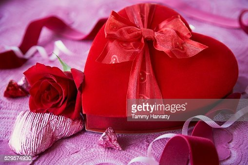 Romantic Box of Valentine's Day Chocolates : Stock-Foto