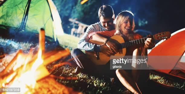 Romantic camping night.