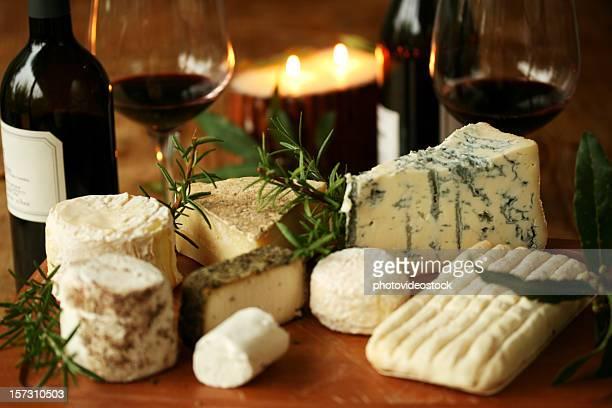 Romantische Käse-Abendessen für zwei Personen