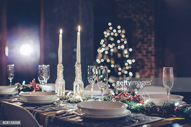 Romántica cena de Navidad