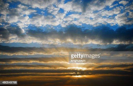 Nubes romántica : Foto de stock