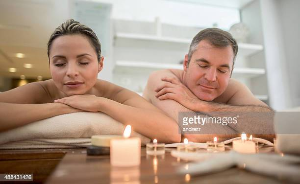 Romantic couple at the spa
