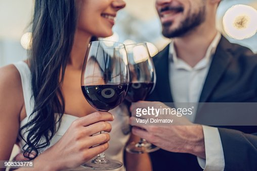 Romantic couple in restaurant : Foto de stock