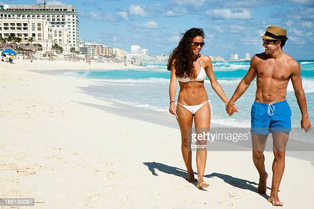Romantic couple on beach