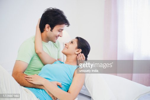 Similar images. Romantic Couple On The Bed Stock Photo   Getty Images
