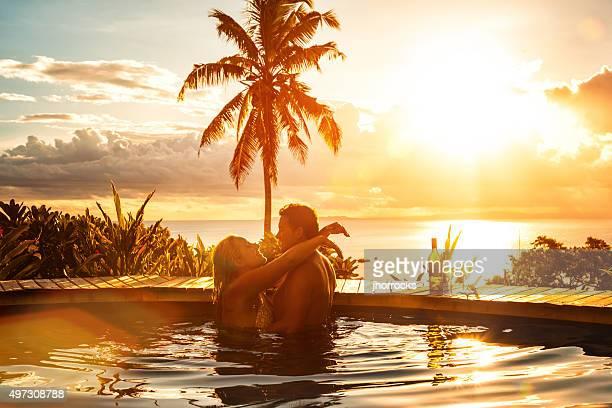 Romantisches Paar im Urlaub