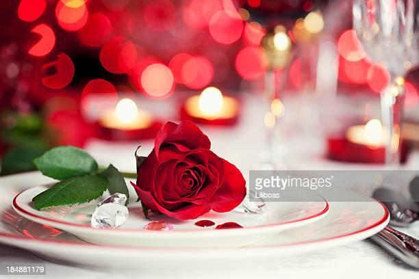 Romantische Abendessen