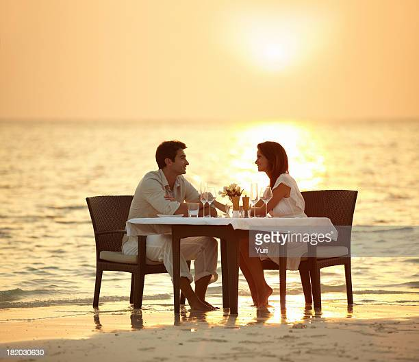 Romantic dinner in the waves