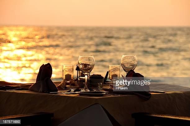 Jantar romântico-Silhueta