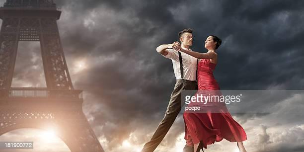Romantic Evening Dance in Paris