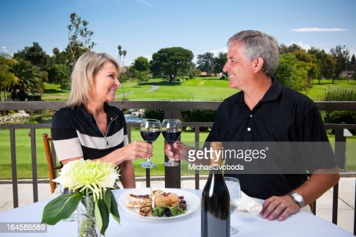 Romantic Golf Couple