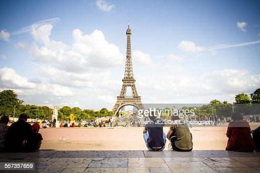 Romantic love in Paris, Eiffel Tower