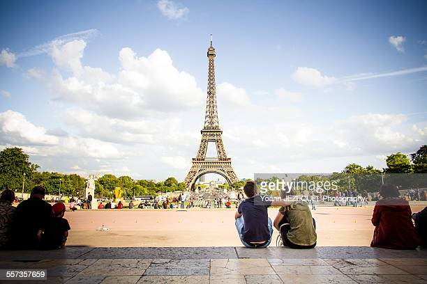 Romantic love in Paris, Eiffel Tower