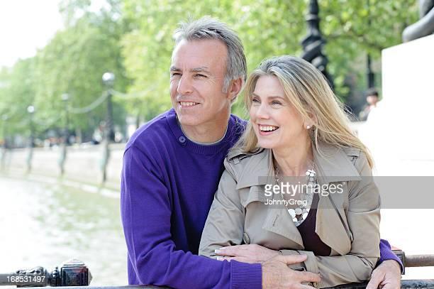 Romantic Mature Couple by River Thames