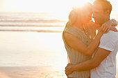 Romantic mid adult couple on a beach