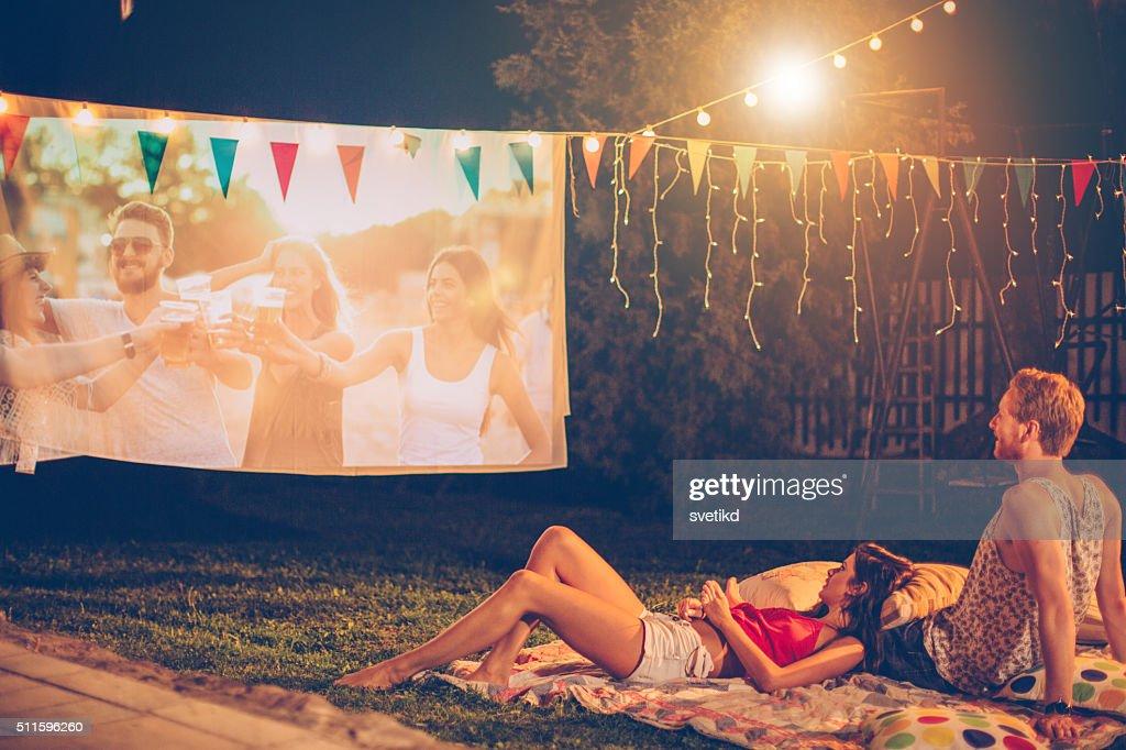 Romantische-Filmnacht : Stock-Foto