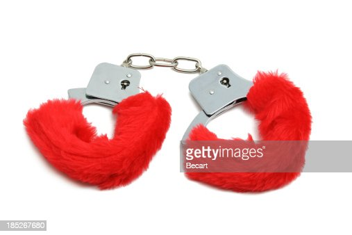 Romantic red handcuffs