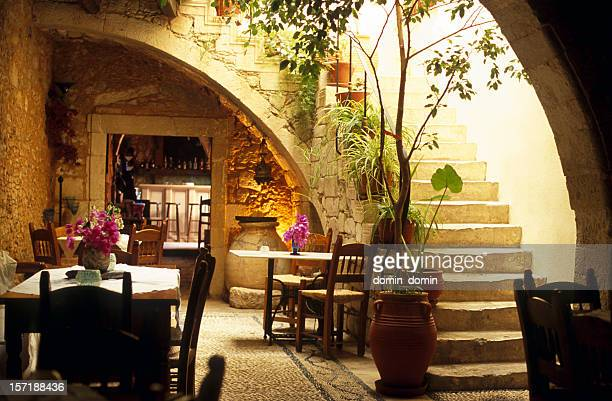 Greece restaurant stock photos and pictures getty images