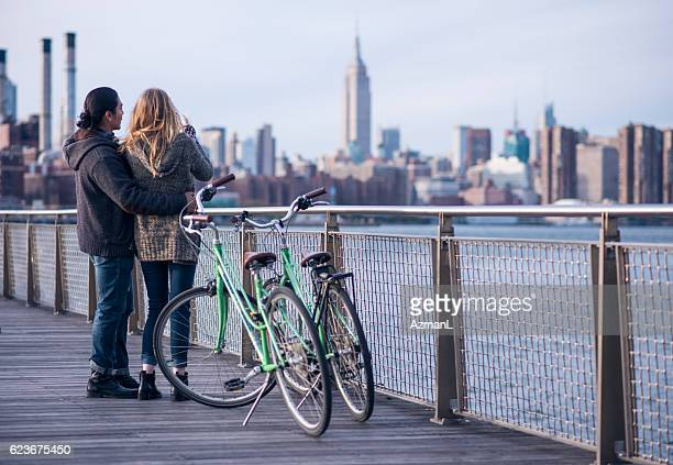 Romantic ride in the city