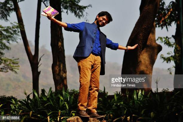 Romantic story Book Writer Anuj Tiwari poses during an exclusive interview with Hindustan Times for the feature special on February 13 2015 in Mumbai...