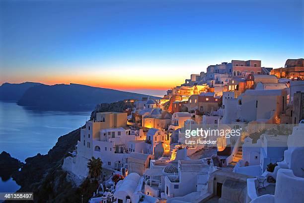 Romantic Sunset in Santorini