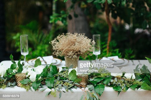 Romantic Table For Two in a Garden : Stock Photo