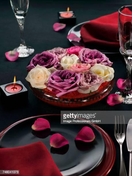 Romantic table presentation