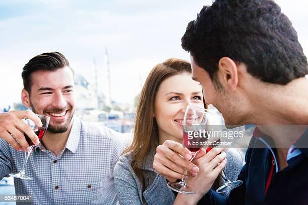 Romantic toast on an Istanbul Cruise