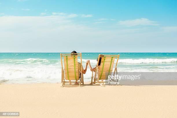 Romantischer Urlaub Paar am tropischen Strand-Paradies, Kauai, Hawaii-Inseln