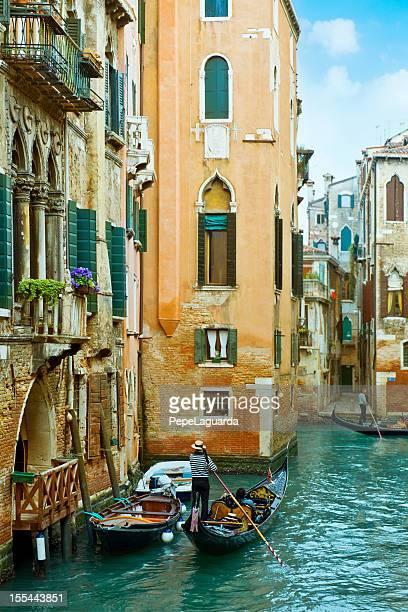 Romantic Venice views from gondola