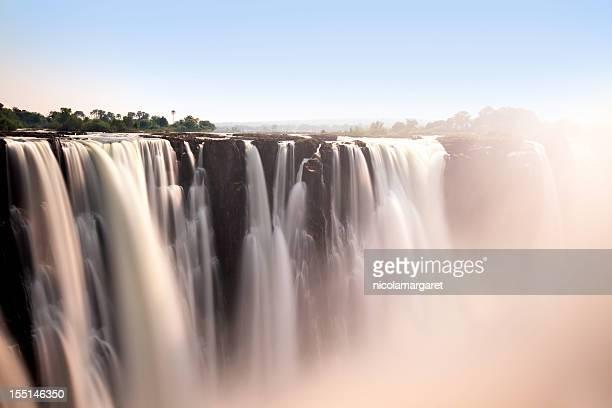 Romantic view of Victoria Falls
