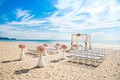 Romantic wedding ceremony on the beach Romantic wedding ceremony on the beach