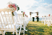 Romantic wedding ceremony